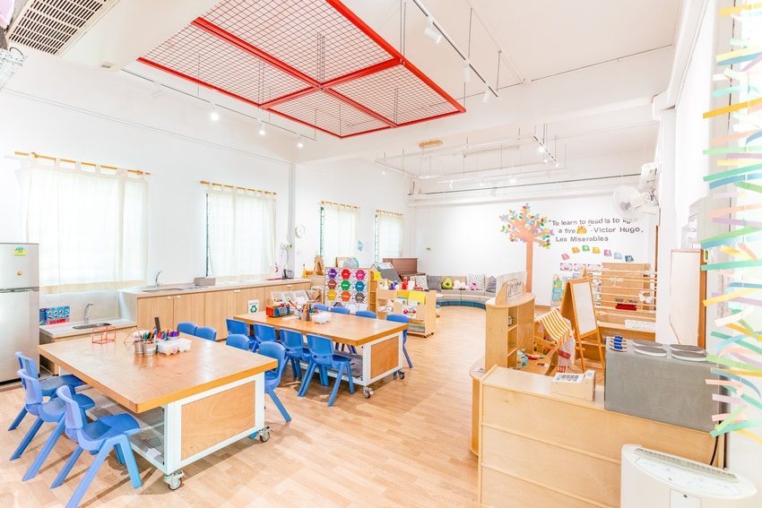 The 'Creative Pod' serves as a maker area for children to construct and experiment with their ideas.